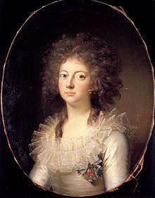 Marie von Hessen-Kassel, Königin von Dänemark, Gemälde von Jens Juel (Quelle: Wikimedia)