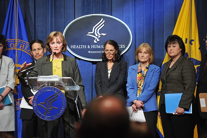 File:Marilyn Tavenner, Acting Administrator for the Centers for Medicare & Medicaid Services delievers remarks at the HHS 2014 Budget Press Conference, April 10, 2013.jpg