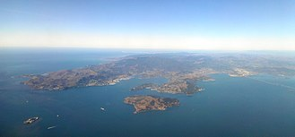 The Witness (2016 video game) - Ambient sound effects were recorded on Angel Island (foreground), off the coast from Marin County, California.