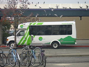 Marin Transit - A Marin Transit bus operating on Route 233 at the San Rafael Transit Center.