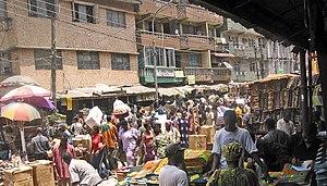 Lagosa: Market in Lagos, Nigeria
