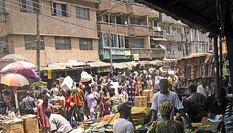 Lagos - Lagos market scene