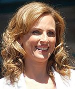 Marlee Matlin receiving a Motion Pictures Star at the Hollywood Walk of Fame in 2009.