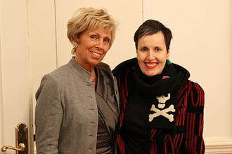 Frances Aviva Blane - Frances Blane (right) with Marliese Heimann-Ammon.