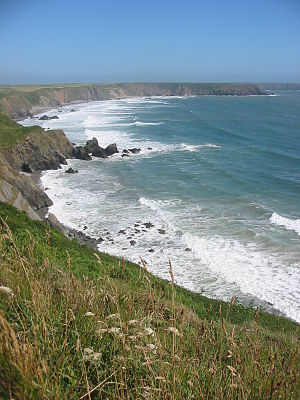 Pembrokeshire Coast Path - View from the Pembrokeshire Coast Path on Marloes peninsula