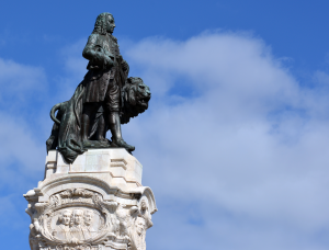 Marquis of Pombal Square - Detail of the monument to Sebastião José de Carvalho e Melo, 1st Marquess of Pombal.