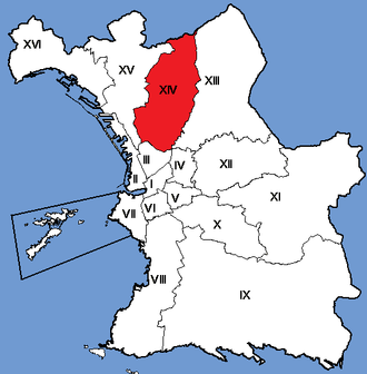 14th arrondissement of Marseille - Image: Marseille Arrondissements 14
