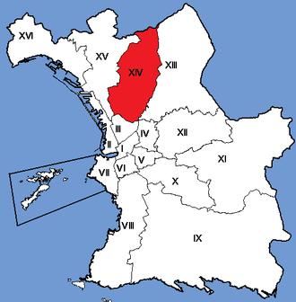 14th arrondissement of Marseille - Image: Marseille Arrondissements 14