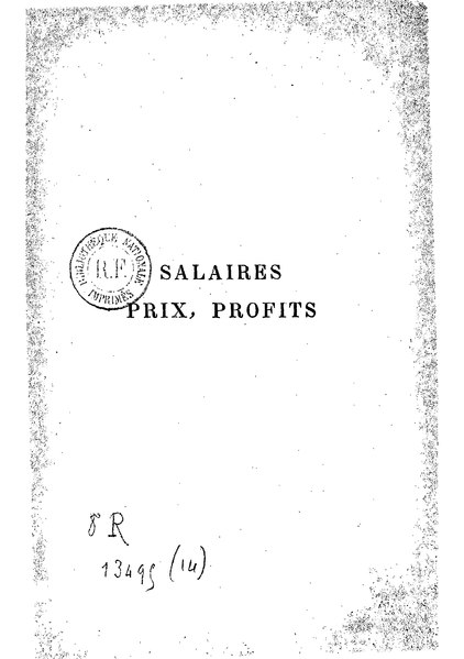 File:Marx - Salaires, prix, profits.djvu