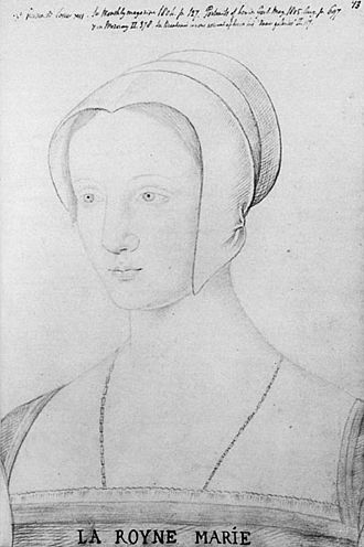 Mary Tudor, Queen of France - A sketch of Mary during her brief period as queen of France