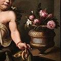 Maso da san friano, ritratto postumo di sinibaldo gaddi con un paggio moro, post 1564, 04 vaso di fiori (coll. priv.).jpg