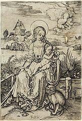 Madonna and Child with a Monkey