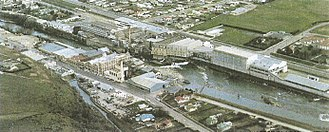 Mataura River - This pulp and paper mill operated on the Mataura until 2000