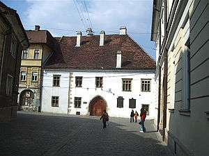 Matthias Corvinus - The house where Matthias Corvinus was born in Kolozsvár (present-day Cluj-Napoca, Romania)