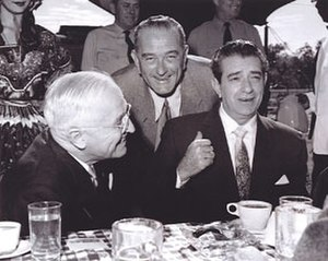 Adolfo López Mateos - President Adolfo López Mateos with future President of the United States Lyndon Baines Johnson and former President Harry S. Truman, in 1959.