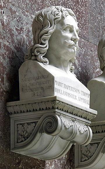 Mathieu Kessels, Portrait bust of admiral Maarten Harpertsz Tromp (1824), Walhalla , Regensburg