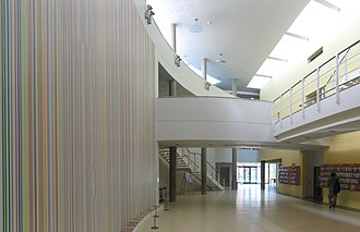 Ian Davenport - Image: Maths foyer, Warwick University