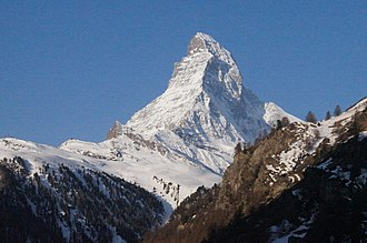 Frida – The DVD - Matterhorn in 2012. This is the north-east side of Matterhorn in background that was filmed during Jankell's interview with Frida at Chez Vrony.