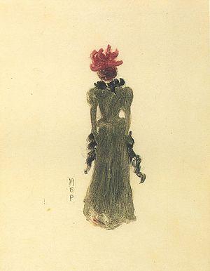 Maurice Prendergast - Image: Maurice Prendergast (1858 1924) Green Dress (1891 1894)