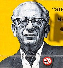 Max Aub Mohrenwitz al mural al col·legi Max Aub de València.JPG