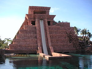 WhiteWater West - Mayan Temple Water Slides at Atlantis Paradise Island (WhiteWater West Freefall)