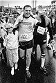Mayor Raymond L. Flynn at finish of Boston Marathon (9516895633).jpg