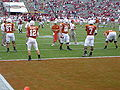 McCoy and Chiles in pre-game warmups Red River Shootout 2007.jpg