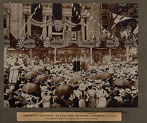 Southern University - President William McKinley speaks at Southern University in New Orleans, 1901.