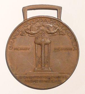 Allied Victory Medal (Italy) - Image: Medaglia interalleata italiana verso