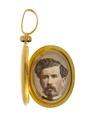 Medaljong med fotografiporträtt av Walther von Hallwyl, 1860-tal - Hallwylska museet - 109976.tif