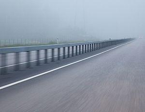 Traffic barrier - Median barrier in Finland.