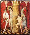 Medio reno o westfalia, altare del medio reno, 1410 ca., verso 06 flagellazione.jpg