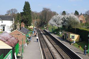 Medstead - Medstead and Four Marks railway station from the east.