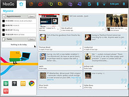 Interfaccia di MeeGo su netbook.