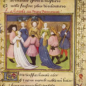 Roman de la Rose - Genius of love, Meister des Rosenromans, 1420-1430