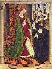 Geertruy Haeck Kneeling in Adoration before Saint Agnes