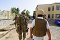 Members of Farah Provincial Reconstruction Team (PRT) arrive for a key leader engagement in Farah city, Farah province, Afghanistan, Aug. 29, 2012 120829-N-II659-874.jpg