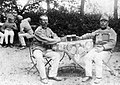 Men, garden, uniform, drinking, soldier Fortepan 6650.jpg