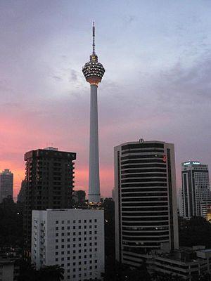 Telekom Malaysia - Kuala Lumpur Tower at dusk