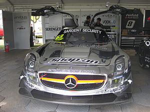 Australian Tourist Trophy - The Mercedes-Benz SLS AMG of 2012 ATT winner Peter Hackett, pictured at the opening round of the 2012 Australian GT Championship.