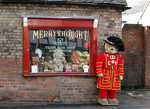 Merrythought - The shop and museum, which first opened in 1988, is one of the visitor attractions in the area. It is run and managed directly by Merrythought, though it used to be part of the Ironbridge Gorge Museums.