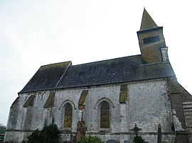 The church in Mesnil-Domqueur