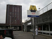 Ingang metrostation Coolhaven