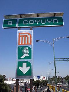 Metro Coyuya Mexico City metro station