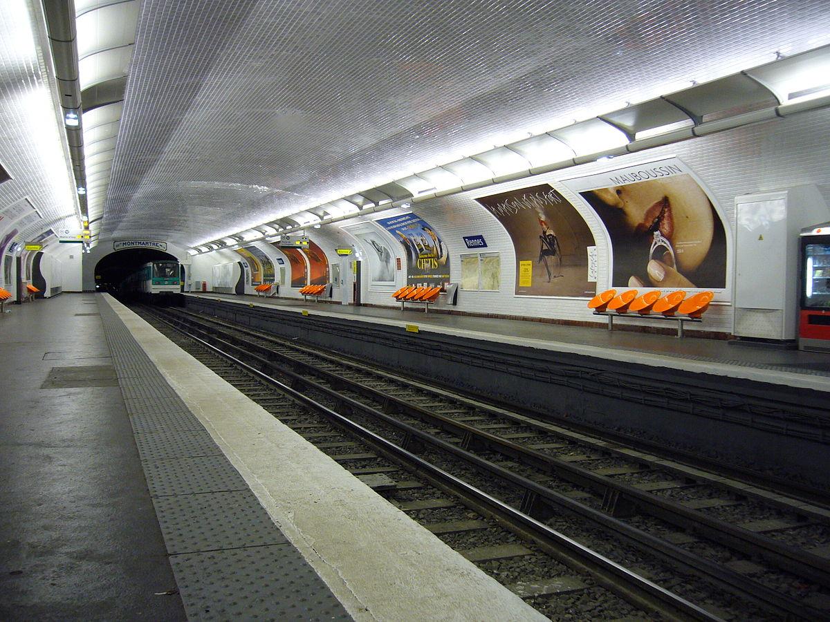 Plaque Metro Parisien Deco rennes (métro de paris) — wikipédia