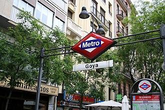 Goya (Madrid Metro) - Image: Metro goya madrid