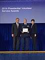 Michael D. Bryant receives President's Gold Volunteer Service Award.jpg