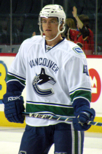 Grabner While A Member Of The Vancouver Canucks In