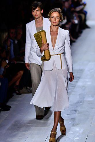Fashion week - Karmen Pedaru modeling for Michael Kors, Spring/Summer New York Fashion Week, 2013