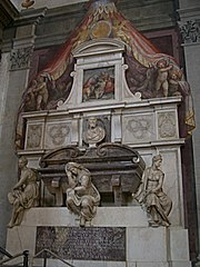 Michelangelo's own tomb, at Basilica di Santa Croce di Firenze, Florence